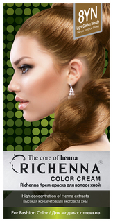 Краска для волос RICHENNA Color Cream 8YN Light Golden Blonde