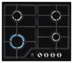 Встраиваемая варочная панель газовая Electrolux GPE 263 MB Black