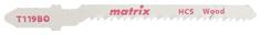 Пилки для лобзика MATRIX по дереву 3 шт T119BO, 50 x 2 мм HCS 78227