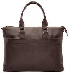 Портфель мужской кожаный Lakestone Gilroy коричневый