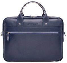 Портфель мужской кожаный Lakestone Bartley синий