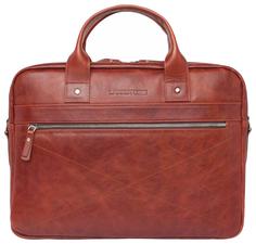 Портфель мужской кожаный Lakestone Bartley оранжевый