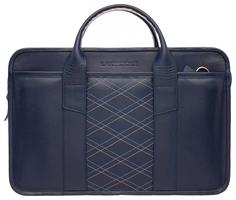 Портфель мужской кожаный Lakestone Marion синий