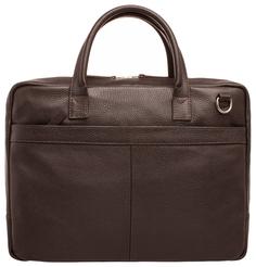Портфель мужской кожаный Lakestone Carter коричневый