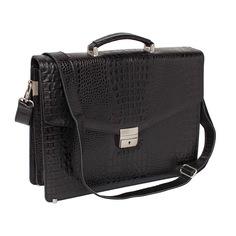Портфель мужской кожаный Lakestone Richeson 943030/BLC черный
