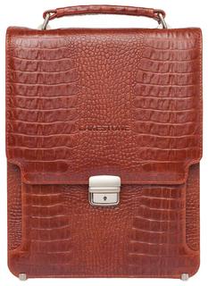 Портфель мужской кожаный Lakestone Gilbert оранжевый