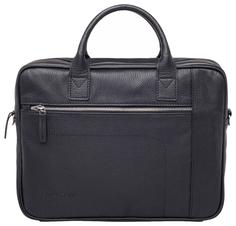 Портфель мужской кожаный Lakestone Baxter черный