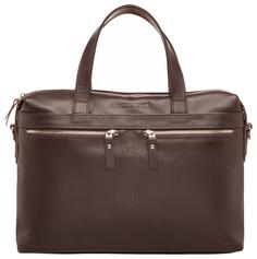 Портфель мужской кожаный Lakestone Dalston коричневый