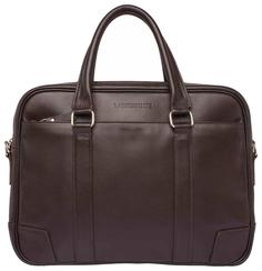 Портфель мужской кожаный Lakestone Foster коричневый
