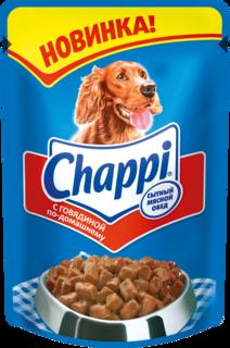 Влажный корм для собак Chappi Сытный мясной обед, говядина, 100г