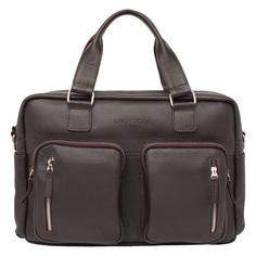 Портфель мужской кожаный Lakestone Kingston коричневый