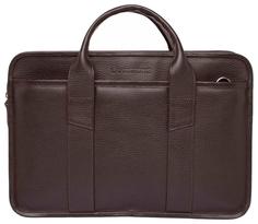 Портфель мужской кожаный Lakestone Marion коричневый