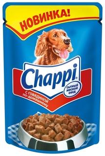 Влажный корм для собак Chappi, говядина, 24шт, 100г