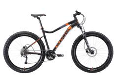 """Велосипед Stark Tactic 27.5+ HD 2019 19"""" черный/оранжевый"""