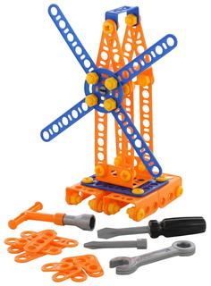 Конструктор пластиковый Полесье Изобретатель - Мельница №1 105 элементов