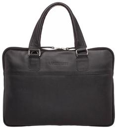 Портфель мужской кожаный Lakestone Anson черный