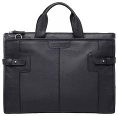 Портфель мужской кожаный Lakestone Courtney черный