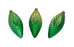 Набор елочных украшений Snowmen Матовая сосулька Е0099 Зеленый