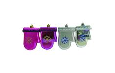 Набор елочных украшений Snowmen Рукавички Е92022 Разноцветный
