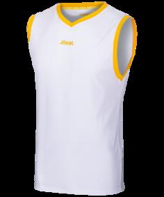 Майка мужская Jogel JBT-1020-014, белые/желтые, M INT