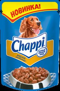 Влажный корм для собак Chappi Сытный мясной обед, мясо, 24шт, 100г