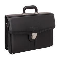 Портфель мужской кожаный Lakestone Farington черный