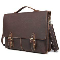 Портфель мужской кожаный Кошелькофф 7090VG коричневая