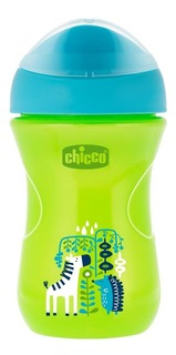 Поильник Chicco 266 мл (с 12 мес) зеленый Зебра