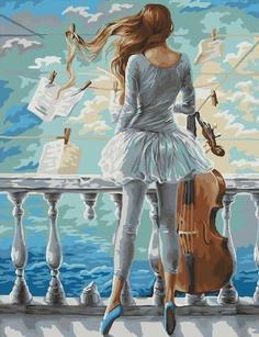 "Картина по номерам Paintboy ""Море и виолончель"", 40x50 см"
