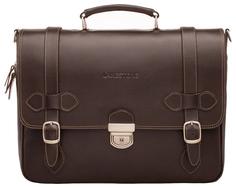 Портфель мужской кожаный Lakestone Belmont коричневый