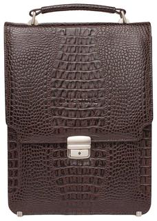 Портфель мужской кожаный Lakestone Gilbert 943020/BRC коричневый