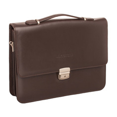 Портфель мужской кожаный Lakestone Gordon коричневый