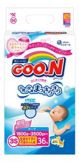 Подгузники Goon XXS (0-3 кг), 36 шт.