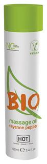 Массажное масло BIO Massage oil cayenne pepper с кайенским перцем 100 мл Hot