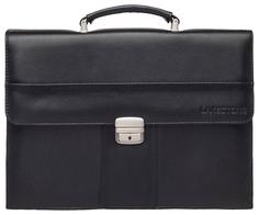 Портфель мужской кожаный Lakestone Harmer черный