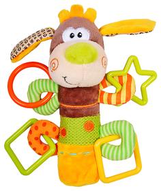 Развивающая игрушка Жирафики пищалка с погремушками Песик Том 93558