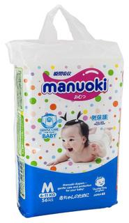 Подгузники Manuoki размер M (6-11 кг) 56 шт.