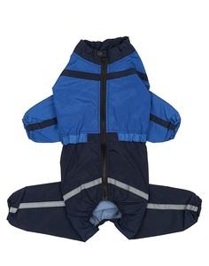 Комбинезон Тузик Американский кокер-спаниель, мужской, холодный, синий, длина спины 44см