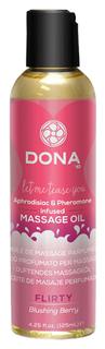 Массажное масло с феромонами DONA Flirty Blushing Berry 125 мл System JO
