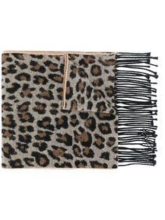 Paul Smith шарф с леопардовым принтом