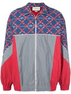 Gucci спортивная куртка с графичным принтом