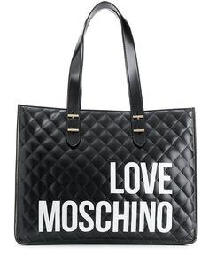 Love Moschino стеганая сумка-тоут с логотипом