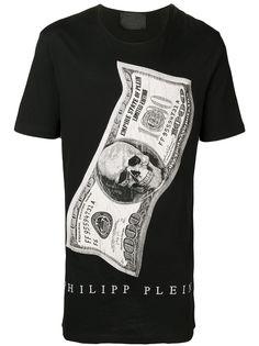 Philipp Plein футболка с круглым вырезом и принтом доллара