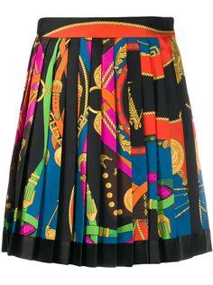 Versace плиссированная юбка с принтом
