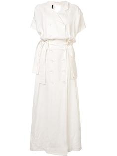 Taylor джинсовое платье-рубашка Deduction длины макси