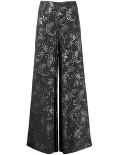 Romeo Gigli Pre-Owned широкие брюки 1990-х годов с принтом пейсли