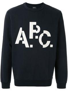 A.P.C. Décalé logo print sweatshirt