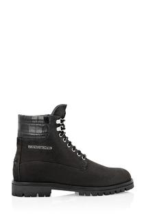 Черные комбинированные ботинки Philipp Plein