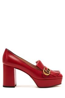 Красные туфли на платформе Gucci