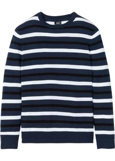 Пуловер с круглым вырезом горловины Bonprix